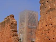 Sikten av Hassan Tower Arkivbild
