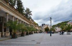 Sikten av Karlovy varierar Arkivbilder