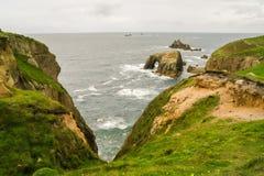 Sikten av Land's End vaggar, Cornwall Royaltyfri Fotografi
