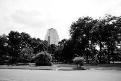 Sikten av Lumphini parkerar, Bangkok Arkivbilder