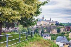 Sikten av Luxembourg fron parkerar Arkivfoto