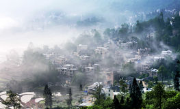 Sikten av Menyuan, Yunnan Royaltyfria Bilder