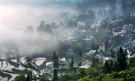 Sikten av Menyuan, Yunnan Arkivfoto