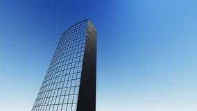 Sikten av moderna skyskrapor 3D framför Arkivfoto