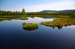 Sikten av sjön med öar Royaltyfria Foton