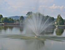Sikten av springbrunnen, brunnsort parkerar, Kudowa Zdroj Fotografering för Bildbyråer
