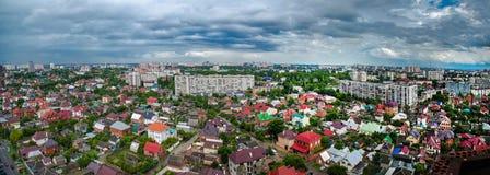Sikten av staden av Krasnodar Arkivbild