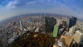 Sikten av staden av Tokyo Arkivbild