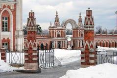 Sikten av Tsaritsyno parkerar i Moskva Arkivbild