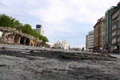 Sikten av vägar i den istanbul gezien parkerar Arkivfoto