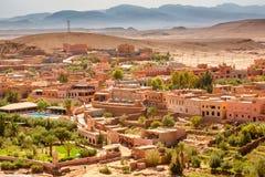 Sikten från fästningen Ait Ben Haddou, Marocko Fotografering för Bildbyråer