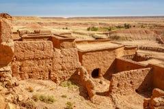 Sikten från fästningen Ait Ben Haddou, Marocko Arkivbild