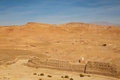 Sikten från fästningen Ait Ben Haddou, Marocko Royaltyfri Fotografi