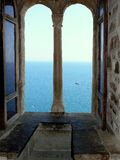 Sikten från fönstren Arkivfoton
