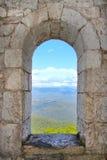 Sikten från fönstret Arkivbild