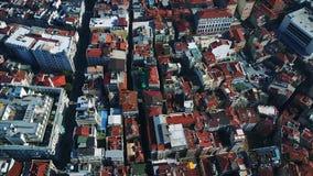 Sikten från flyget till Istanbul arkivfilmer