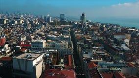 Sikten från flyget till Istanbul stock video