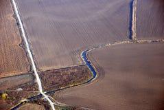 Sikten från flygplanet Fotografering för Bildbyråer