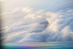 Sikten från flygplanfönstret Fotografering för Bildbyråer