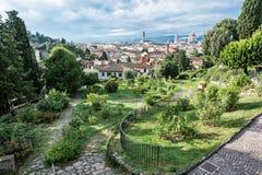 Sikten från Giardino delle steg till staden av Florence, Tuscany, Arkivfoto