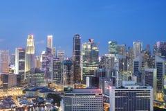 Sikten från höjdpunkten på Duxton det unika byggprojektet i Singapore Royaltyfri Foto