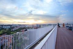 Sikten från höjdpunkten på Duxton det unika byggprojektet i Singapore Royaltyfri Fotografi