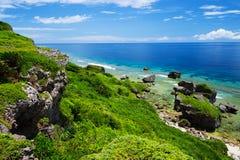 Sikten från HIGASHI HENNA Cape, Okinawa Prefecture /Japan Royaltyfri Fotografi