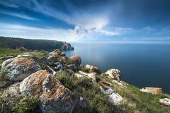 Sikten från kusten Arkivbild
