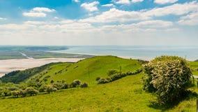 Sikten från panorama går, Wales, UK Arkivfoton