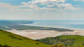 Sikten från panorama går, Wales, UK Arkivfoto