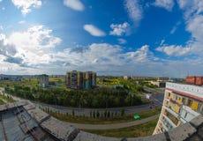 Sikten från taket av huset Arkivfoto