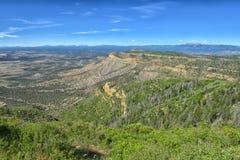 Sikten från utkikpunkt på Mesa Verde National Park Arkivbilder
