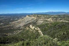 Sikten från utkikpunkt på Mesa Verde National Park Royaltyfri Bild