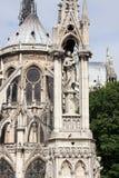 Sikten på Madonna och barn av den Notre-Dame domkyrkan, Paris Royaltyfri Fotografi