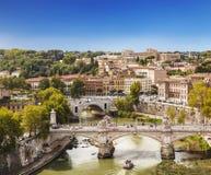 Sikten på Rome från den Castel Sant `en angelo, Italien Royaltyfria Bilder