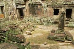 Sikten till fördärvar av den Banteay Kdei templet i Siem Reap, Cambodja Royaltyfri Foto