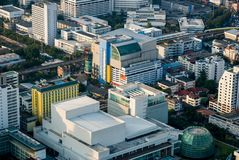 Sikter av Bangkok Baiyoke himmel Royaltyfria Bilder