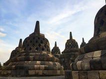 Sikter av Borobudur Royaltyfria Bilder