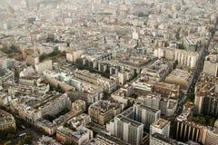 Sikter av den europeiska staden Paris överst Fotografering för Bildbyråer