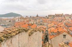 Sikter av den gamla staden av Dubrovnik Arkivbilder