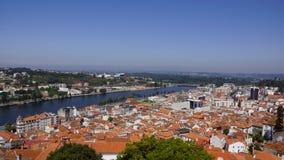 Sikter av den portugisiska staden Coimbra Royaltyfri Foto