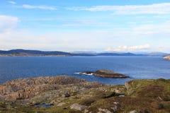 Sikter av det kust- landskapet Fotografering för Bildbyråer