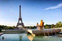 Sikter av Eiffeltorn från Trocadero Arkivfoto