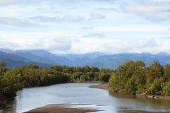 Sikter av floden Kamchatka Royaltyfria Bilder