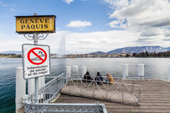 Sikter av Genève på April 11, 2015 Royaltyfri Foto