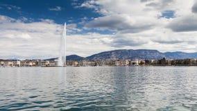 Sikter av Genève på April 11, 2015 Royaltyfria Bilder