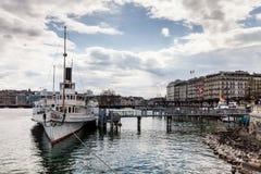 Sikter av Genève på April 11, 2015 Arkivfoto