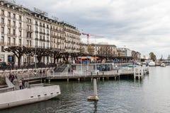 Sikter av Genève på April 11, 2015 Arkivbilder