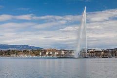 Sikter av Genève på April 11, 2015 Arkivbild