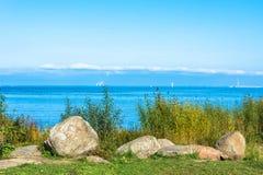 Sikter av golfen av Finland på en solig dag Royaltyfri Foto